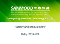 Sanwood factory and product pictures show