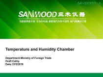 Sanwood/temperature humidity test chamber