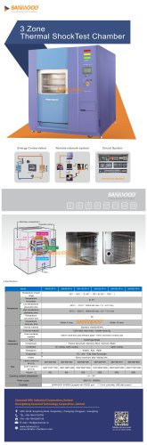 THERMAL SHOCK TEST CHAMBER / AUTOMATIC / 3-ZONE / 2-ZONE