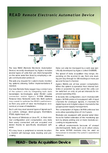 READ – REMOTE ELECTRONIC AUTOMATION DEVICE