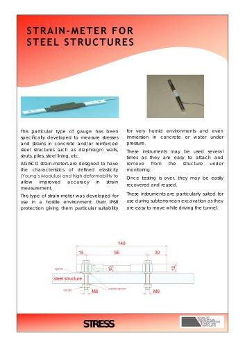STRAIN-METER FOR STEEL STRUCTURES