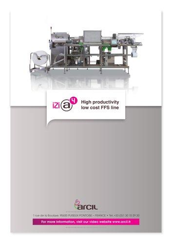 IZI High productivity  low cost FFS line