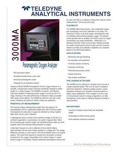 3000MA  Paramagnetic Oxygen Analyzers