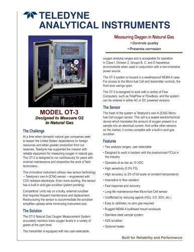 Model OT-3 Natural Gas Oxygen measurement