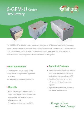 Shoto High-power battery 6-GFM-U series for UPS