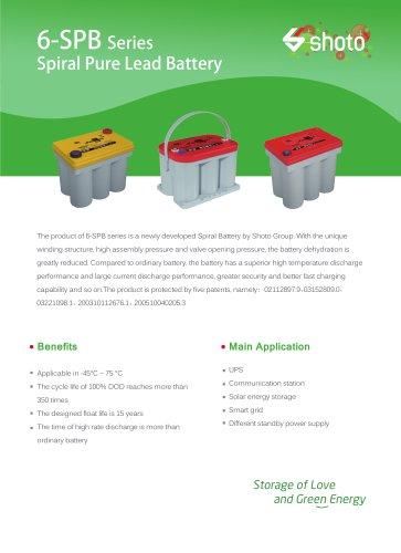 Shoto Spiral VRLA battery 6-SPB ES series for UPS & energy storage