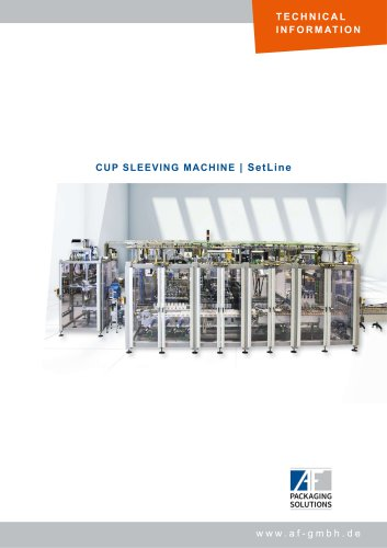 CUP SLEEVING MACHINE | SetLine
