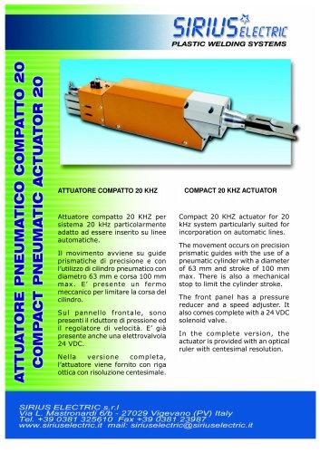 compact pneumatic actuator 20