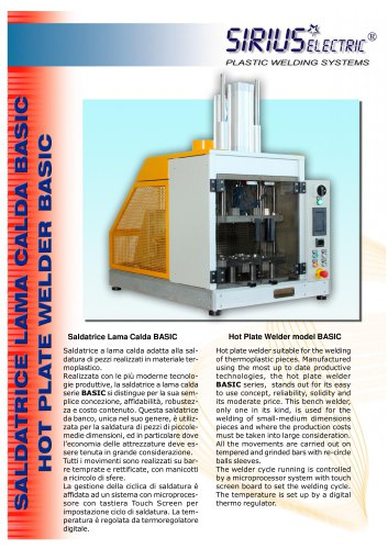 HOT PLATE WELDER MODEL BASIC 2014
