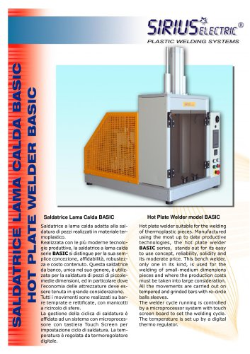 HOT PLATE WELDER NEW MODEL BASIC