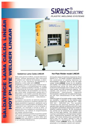 HOT PLATE WELDING MACHINE LINEAR