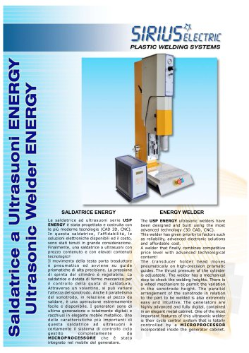 INNOVATIVE ULTRASONIC WELDER USP ENERGY