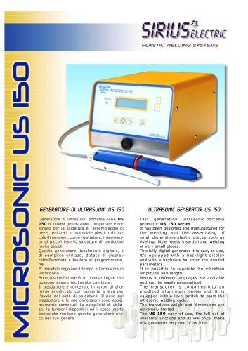MICROSONIC US 150-39 KHZ