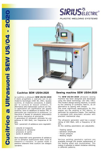 ULTRASONIC SEWING MACHINE SEW US/04