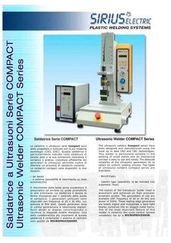ULTRASONIC WELDER MODEL COMPACT