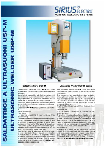 ULTRASONIC WELDER MODEL USP-M