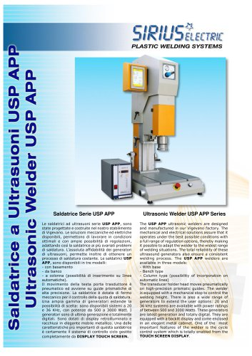 Ultrasonic Welder USP APP