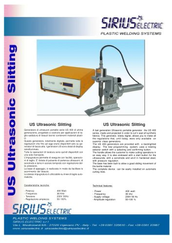 US ULTRASONIC SLITTING