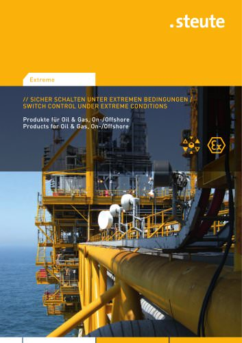 Products for Oil & Gas, On-/Offshore