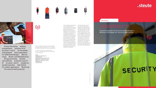 WIRELESS SWITCHGEAR FOR SECURITY APPLICATIONS