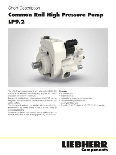 Common Rail High Pressure Pump LP9.2