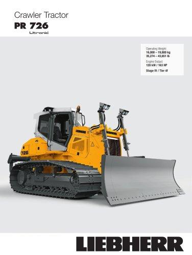 crawler tractor PR 726 Litronic