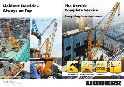 The Derrick Complete Service. Everything from one source.