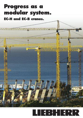 Progress as a modular system. EC-H and EC-B cranes.