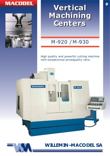 M-920  High quality and powerful cutting machine with exceptionnal price/quality ratio