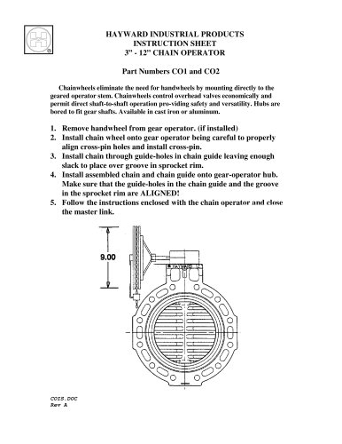 Butterfly Valve Chain Operator