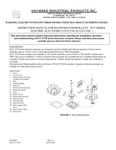 Electric Actuator Model EVS/EVT