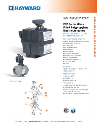 NPP1014 - ECP Series GFPP Electric Actuators