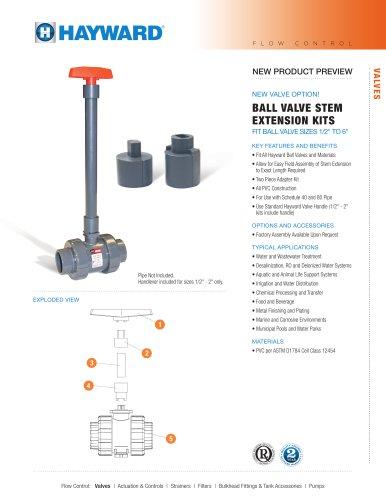 NPP413 - Ball Valve Stem Extension Kits