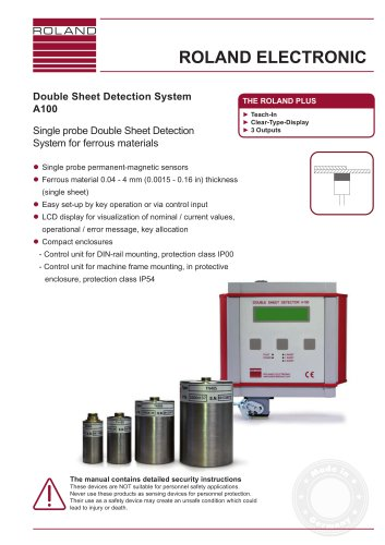 Double Sheet Detection System A100