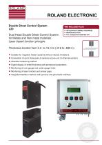 L20 - Dual Head Double Sheet Control System for metals and non metal materials - Laser based Function principle - 1