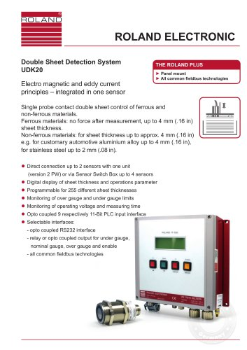 UDK20 Double Sheet Detection System