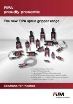 FIPA sprue gripper range