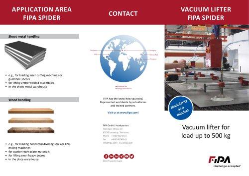 FIPA Vacuum lifter Flyer