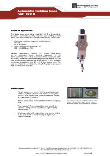Automatic welding head KAH-100 D