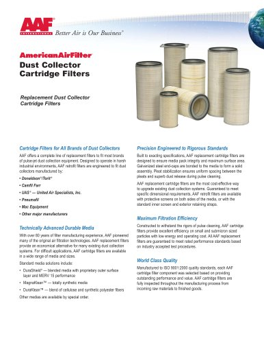 Dust Collector Cartridge Filters APC 1 550C