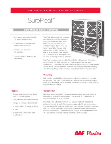SurePleat - AAF International - PDF Catalogs | Technical