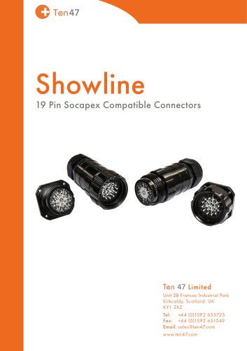 Showline 19 Pin Socapex Compatible Connectors