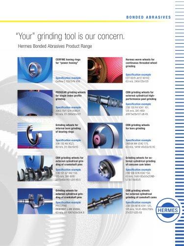 Hermes Product Range Bonded Abrasives