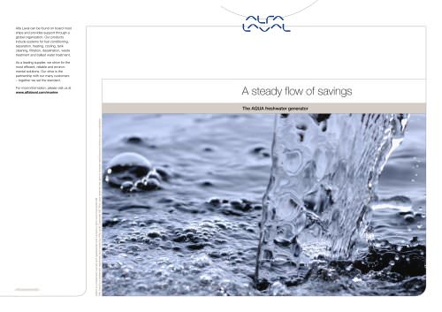 A steady flow of savings - The AQUA freshwater generator