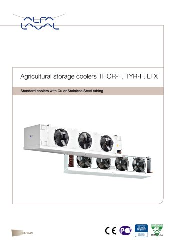 Agricultural storage coolers THOR-F, TYR-F, LFX