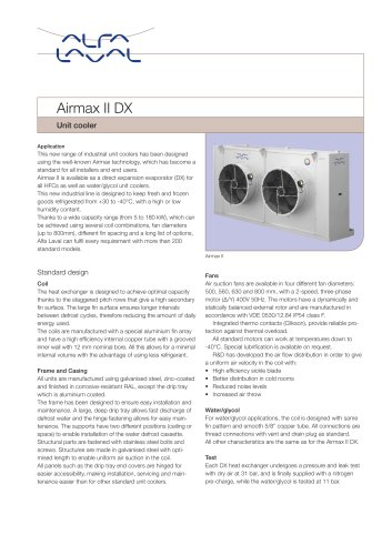 Airmax II DX - Unit cooler