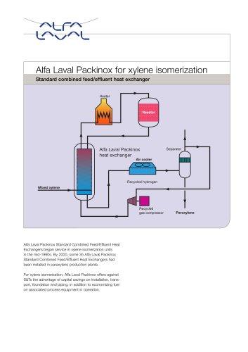 Alfa Laval Packinox for xylene isomerization