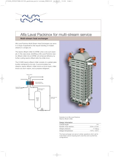 Alfa Laval Packinox for multi-stream service