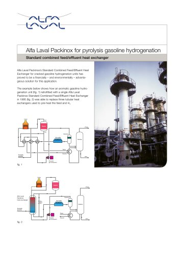 Alfa Laval Packinox for pyrolysis gasoline hydrogenation