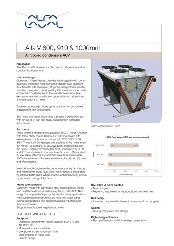 Alfa V- Air cooled condenser